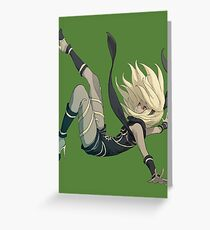 Gravity Rush - Falling Kat Greeting Card