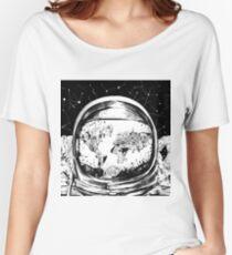 astronaut world map 4 Women's Relaxed Fit T-Shirt