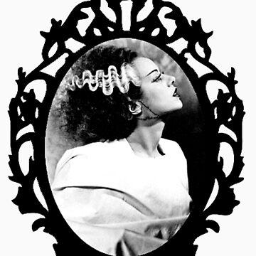 Vintage framed Bride of Frankenstein by RLAmaro