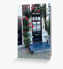 Flower Door Greeting Card