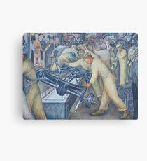 Diego Rivera Auto Plant Canvas Print