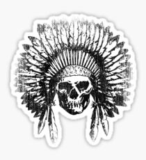 Vintage Chief Skull Design Sticker