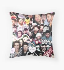 Supernatural Collage Throw Pillow