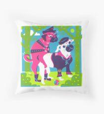 Secrets of the Dog Park Throw Pillow