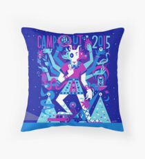 Campout 2015 : Blue Throw Pillow