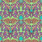 Monster Damask (pastel) by Swirlything