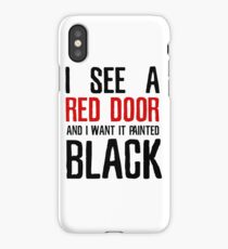 Paint It Black The Rolling Stones Lyrics iPhone Case/Skin