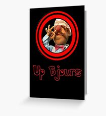 Up Bjours Greeting Card