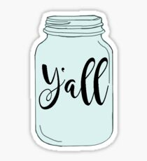 Y'all Mason Jar Sticker