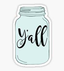 Pegatina Y'all Mason Jar
