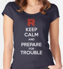 Keep calm and prepare for trouble Women's Fitted Scoop T-Shirt