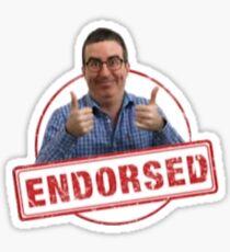 Endorsed by John Oliver Sticker