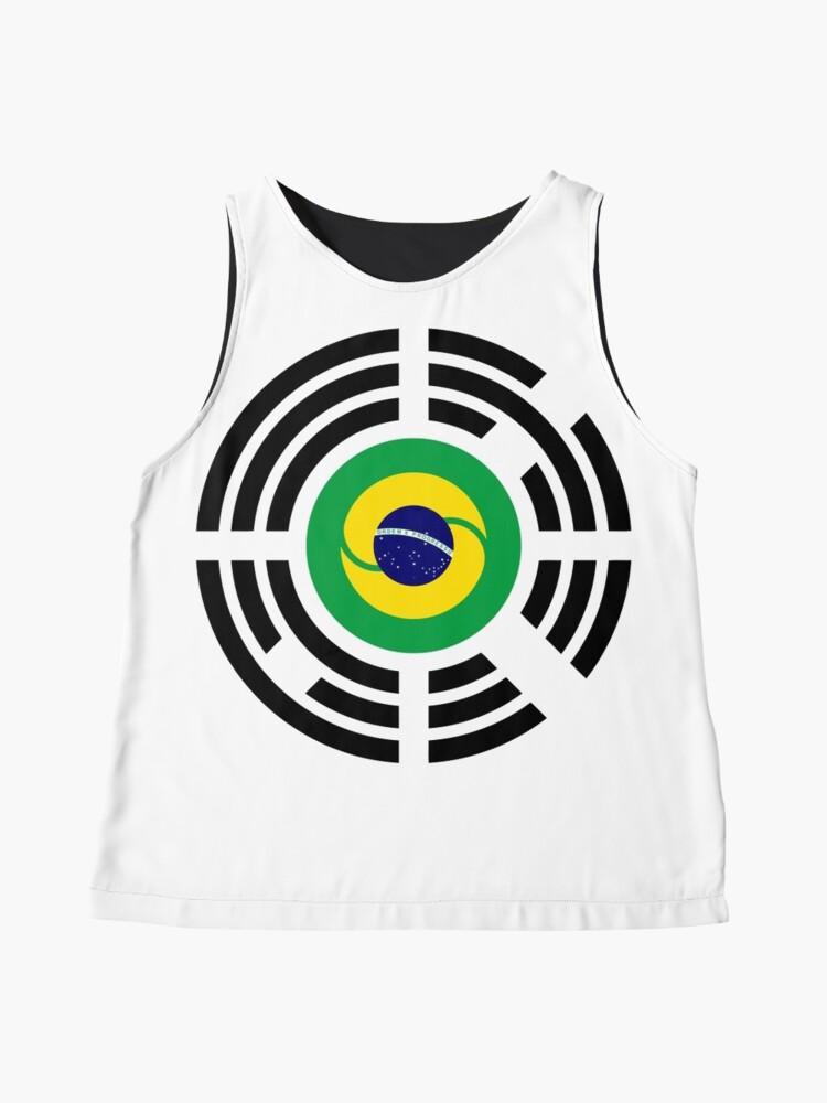 Alternate view of Korean Brazillian Multinational Patriot Flag Series Sleeveless Top