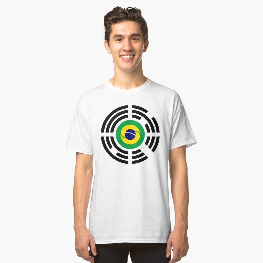 Korean Brazillian Multinational Patriot Flag Series Classic T-Shirt