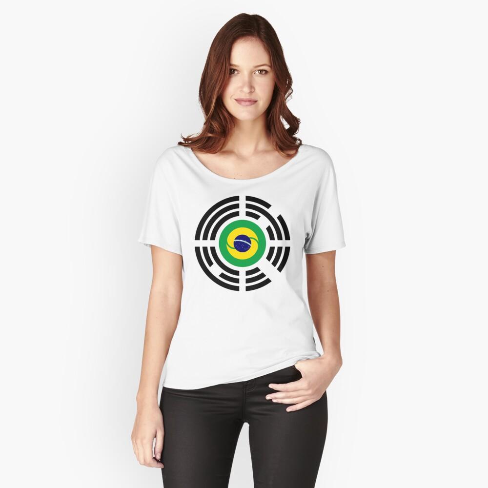 Korean Brazillian Multinational Patriot Flag Series Relaxed Fit T-Shirt