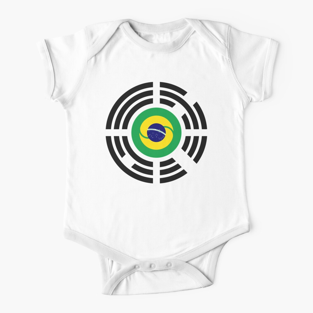 Korean Brazillian Multinational Patriot Flag Series Baby One-Piece