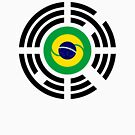 Korean Brazillian Multinational Patriot Flag Series by Carbon-Fibre Media