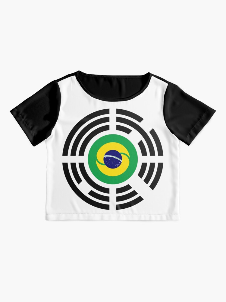 Alternate view of Korean Brazillian Multinational Patriot Flag Series Chiffon Top