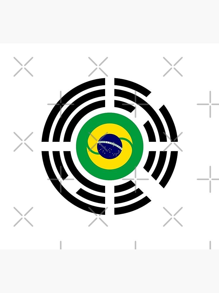 Korean Brazillian Multinational Patriot Flag Series by carbonfibreme