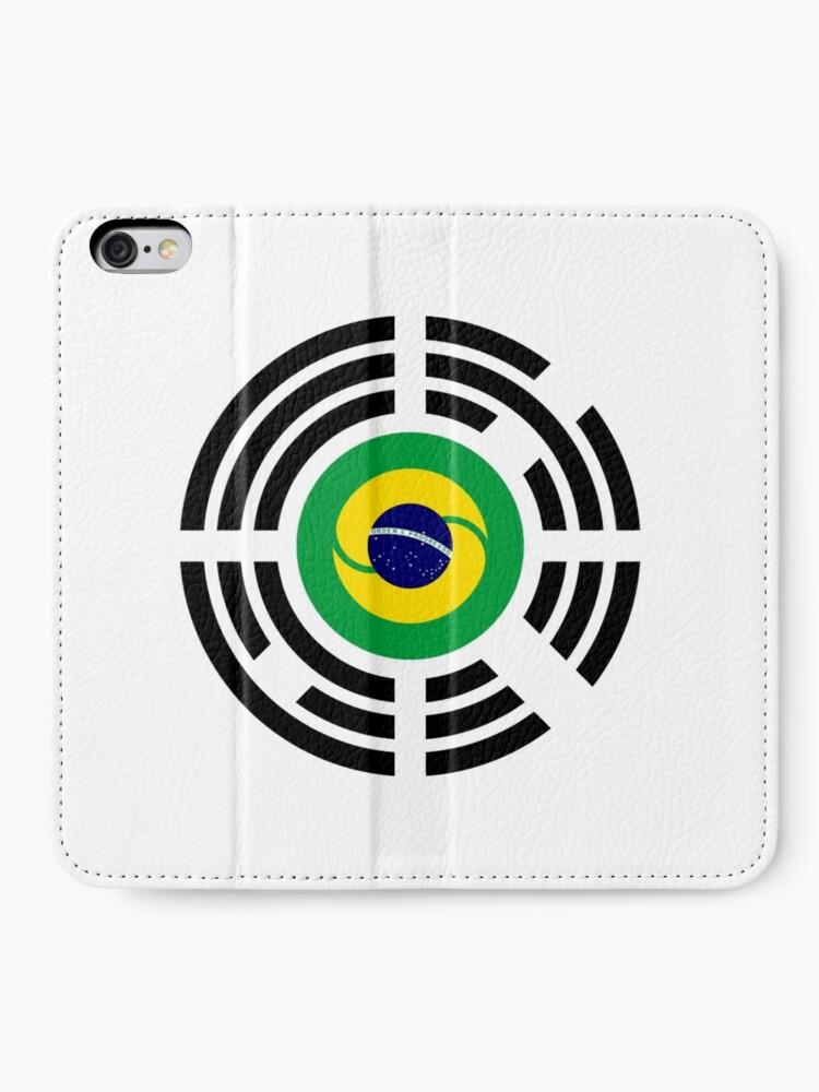 Alternate view of Korean Brazillian Multinational Patriot Flag Series iPhone Wallet