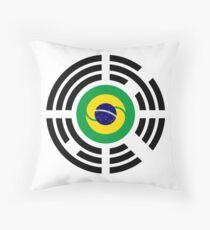 Korean Brazillian Multinational Patriot Flag Series Throw Pillow