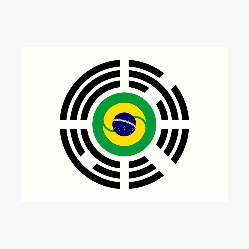 Korean Brazillian Multinational Patriot Flag Series Art Print