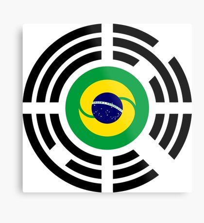 Korean Brazillian Multinational Patriot Flag Series Metal Print