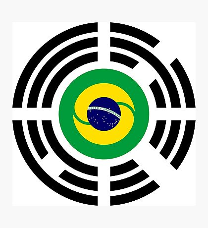 Korean Brazillian Multinational Patriot Flag Series Photographic Print