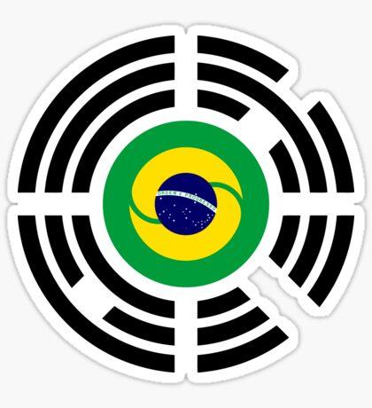 Korean Brazillian Multinational Patriot Flag Series Sticker