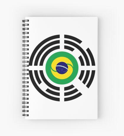 Korean Brazillian Multinational Patriot Flag Series Spiral Notebook