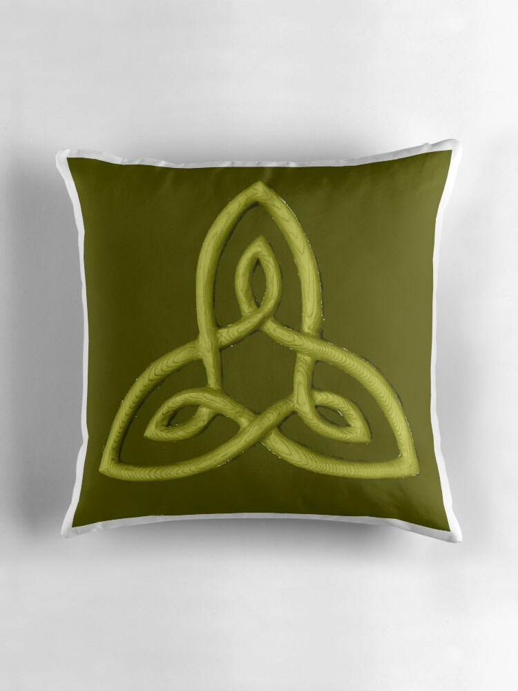 Celtic Symbol For Inner Strength Throw Pillows By Zentiful Redbubble
