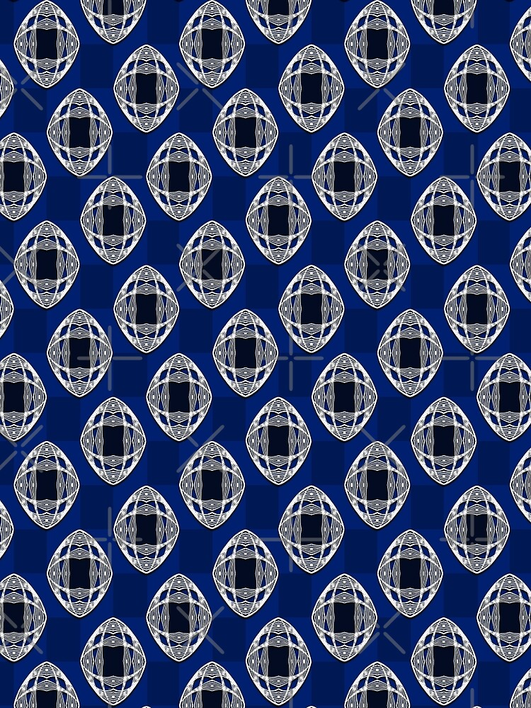Nouveau Eye Checkerboard Cobalt by JaZilla