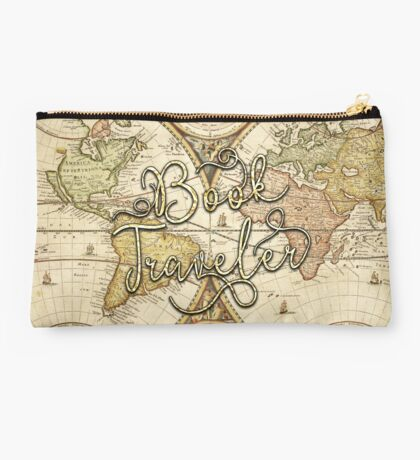Book Traveler Vintage Map Studio Pouch