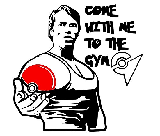 """""""Come With Me To The Gym"""" Arnold Pokemon  by OBSKUREVINYL"""
