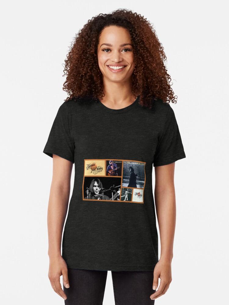 Alternative Ansicht von Tribut an Neil Vintage T-Shirt