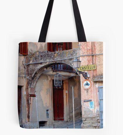 Entering Old Amantea Tote Bag