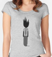 Burning Businessman Fitted Scoop T-Shirt