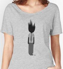 Burning Businessman Women's Relaxed Fit T-Shirt
