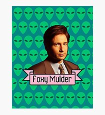 Foxy Mulder ft. Aliens Photographic Print