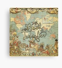 Book Traveler Vintage Map v2 Canvas Print