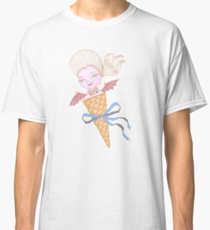 Marie Antoinette Ice Cream Cone with Bat Wings Classic T-Shirt