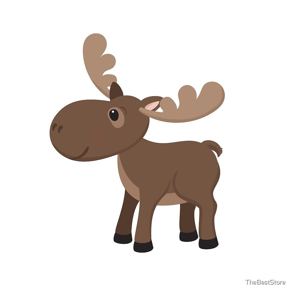 Cartoon Moose by TheBestStore