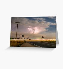 Cars Lightning and Lines Greeting Card