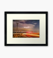 Cruising From the Storm Framed Print