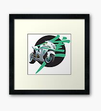 Suzuki Hayabusa Motorbike bike Framed Print