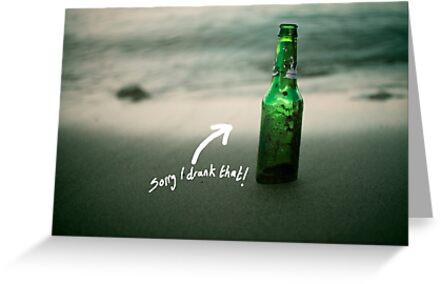 I drank that....  by Stephen Ignacio