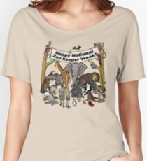 Happy National Zoo Keeper Week Women's Relaxed Fit T-Shirt