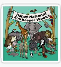 Happy National Zoo Keeper Week Sticker