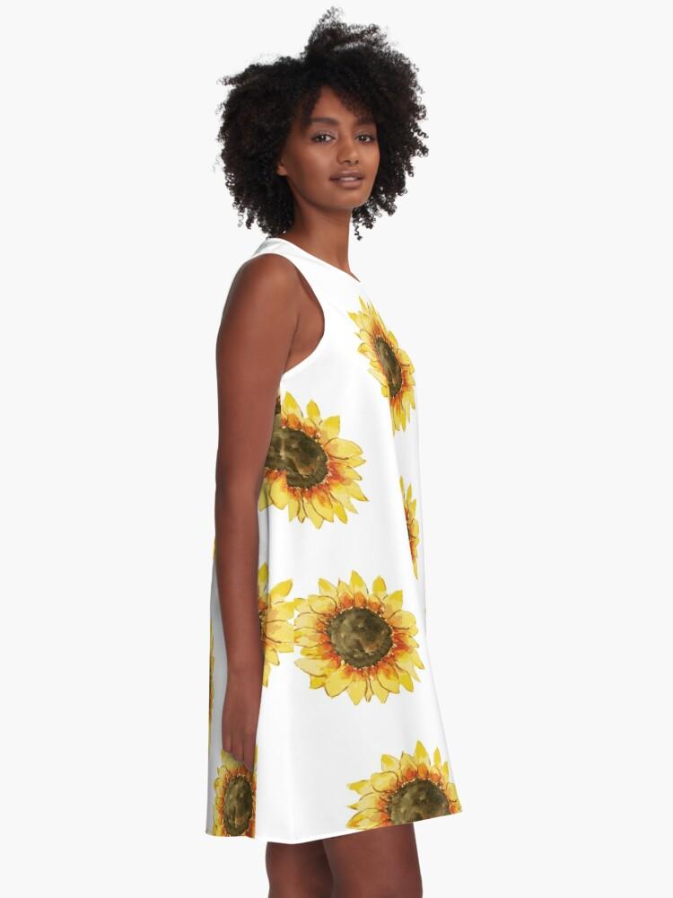 Alternative Ansicht von Sonnenblume A-Linien Kleid