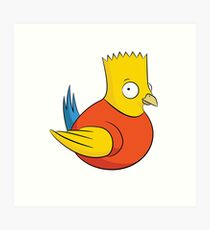 Bird Simpson Art Print